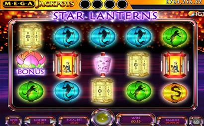 Mega Jackpots Star Lanterns Screenshot