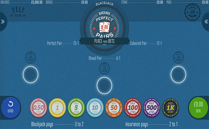 Blackjack Perfect Pairs Screenshot