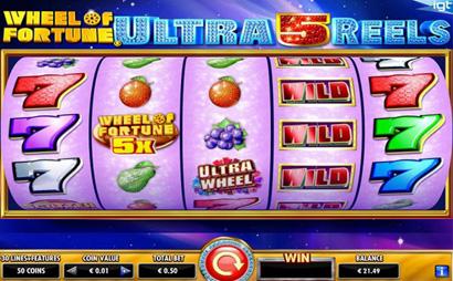 Wheel of Fortune Ultra  5 Reels Screenshot