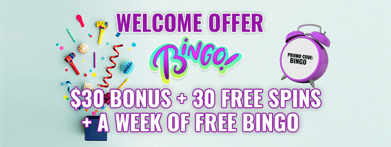 WELCOME OFFER BINGO